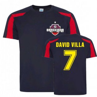 David Villa Barcelona Sports Training Jersey (Navy)