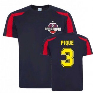 Gerard Pique Barcelona Sports Training Jersey (Navy)