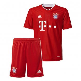 2020-2021 Bayern Munich Adidas Home Little Boys Mini Kit