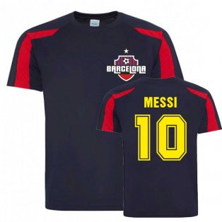 Lionel Messi Barcelona Sports Training Jersey (Navy)