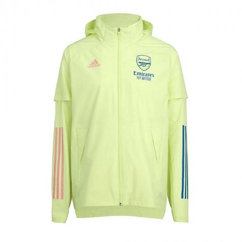 2020-2021 Arsenal Adidas Allweather Jacket (Yellow)