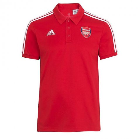 2020-2021 Arsenal Adidas 3S Polo Shirt (Red)
