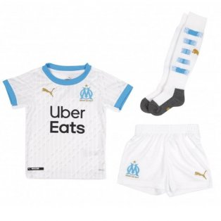 2020-2021 Olympique Marseille Home Little Boys Mini Kit
