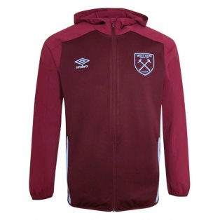 2020-2021 West Ham Hooded Jacket (Claret)