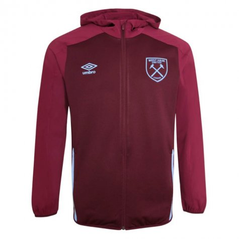2020-2021 West Ham Hooded Jacket (Claret)