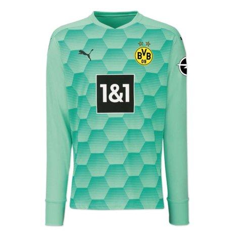 2020-2021 Borussia Dortmund Home Goalkeeper Shirt (Green)