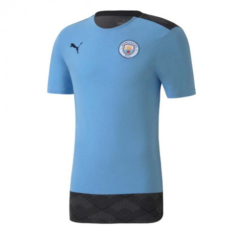 2020-2021 Manchester City Puma Casuals Tee (Light Blue)
