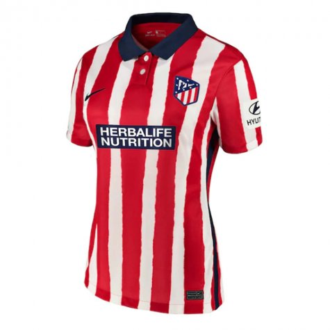 2020-2021 Atletico Madrid Home Nike Shirt (Ladies)