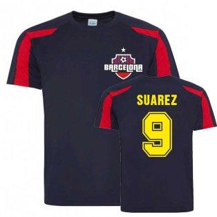 Luis Suarez Barcelona Sports Training Jersey (Navy)