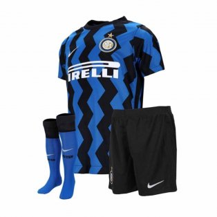 2020-2021 Inter Milan Home Nike Little Boys Mini Kit