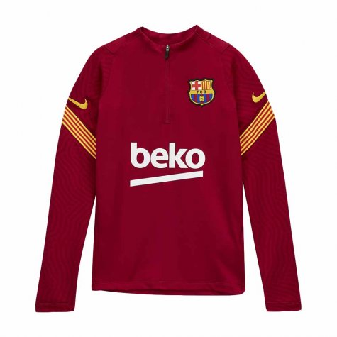 2020-2021 Barcelona Nike Drill Training Top (Noble Red) - Kids