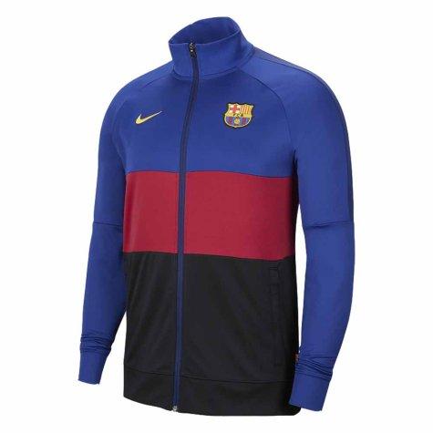 2020-2021 Barcelona Nike I96 Jacket (Blue-Red) - Kids