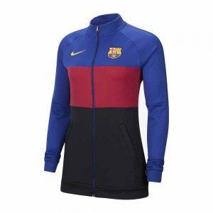 2020-2021 Barcelona Nike I96 Jacket (Blue-Red) - Womens