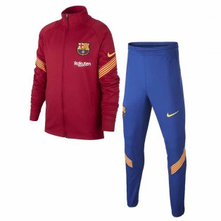 2020-2021 Barcelona Nike Little Boys Tracksuit (Purple) - Kids