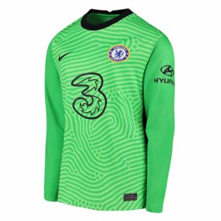 2020-2021 Chelsea Home Nike Goalkeeper Shirt (Green) - Kids