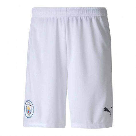 2020-2021 Manchester City Home Football Shorts (White)