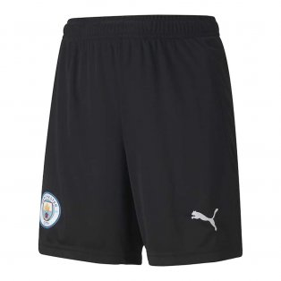 2020-2021 Man City Home Goalkeeper Shorts (Black) - Kids