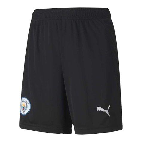 2020-2021 Man City Home Goalkeeper Shorts (Black) - Kids