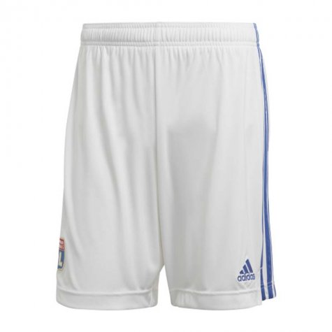 2020-2021 Olympique Lyon Adidas Home Shorts (White) - Kids