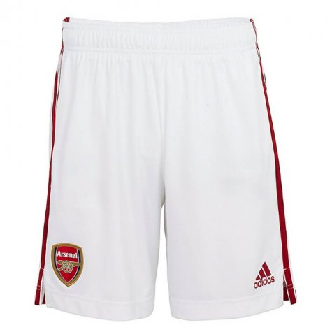 2020-2021 Arsenal Adidas Home Shorts White (Kids)