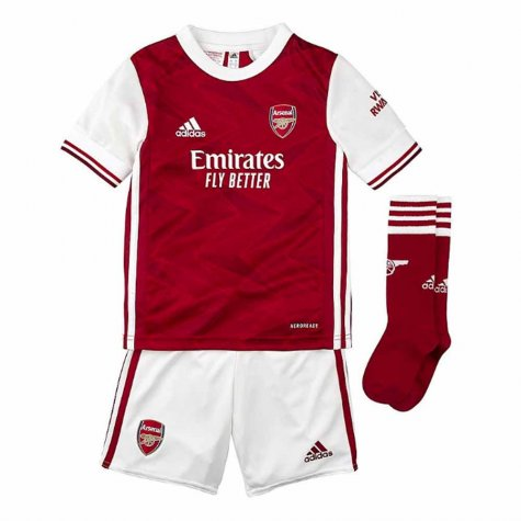 2020-2021 Arsenal Adidas Home Little Boys Mini Kit