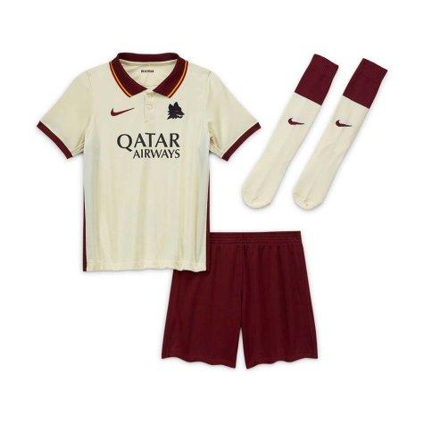2020-2021 AS Roma Away Nike Little Boys Mini Kit