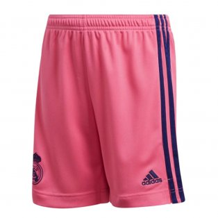2020-2021 Real Madrid Adidas Away Shorts (Pink) - Kids