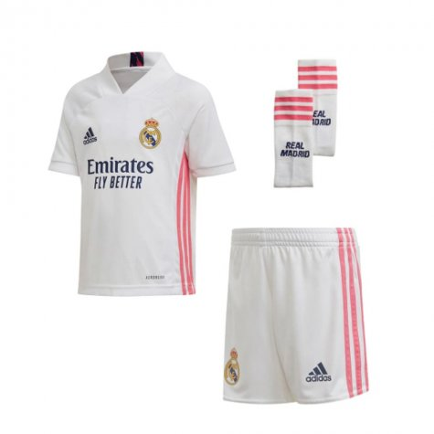2020-2021 Real Madrid Adidas Home Full Kit (Kids)