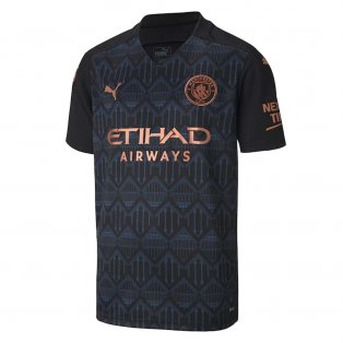2020-2021 Manchester City Puma Away Football Shirt (Kids)
