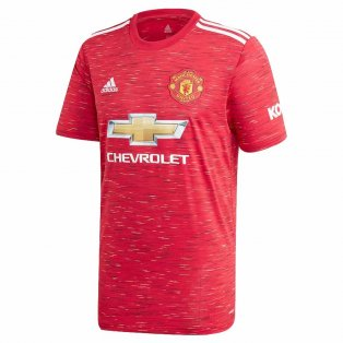 2020-2021 Man Utd Adidas Home Football Shirt