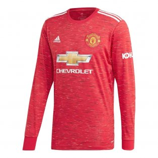 2020-2021 Man Utd Adidas Home Long Sleeve Shirt