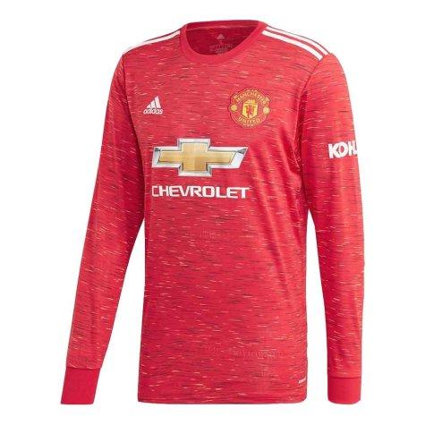 2020-2021 Man Utd Adidas Home Long Sleeve Shirt