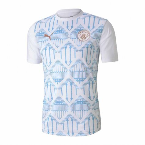 2020-2021 Manchester City Puma Stadium Jersey (White) - Kids