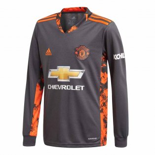 2020-2021 Man Utd Adidas Home Goalkeeper Shirt (Kids)