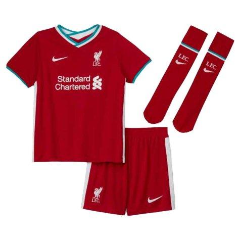 2020-2021 Liverpool Home Nike Little Boys Mini Kit