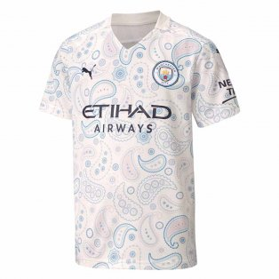 2020-2021 Manchester City Puma Third Football Shirt (Kids)
