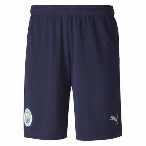 2020-2021 Manchester City Third Football Shorts (Navy)