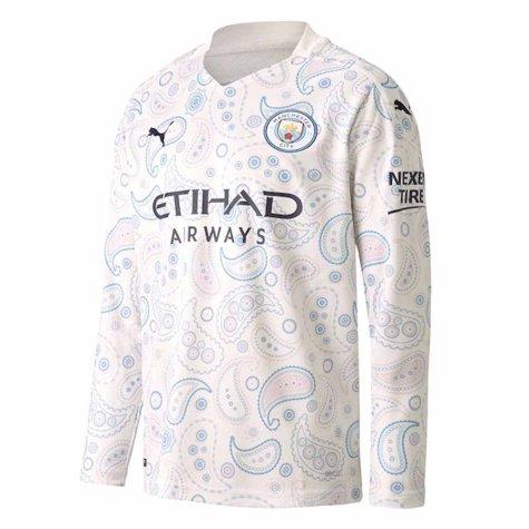2020-2021 Manchester City Puma Third Long Sleeve Shirt (Kids)
