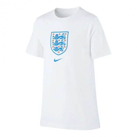 2020-2021 England Nike Evergreen Crest Tee (White) - Kids