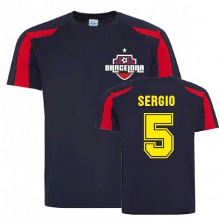 Sergio Busquets Barcelona Sports Training Jersey (Navy)