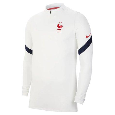 2020-2021 France Nike Training Drill Top (White) - Kids