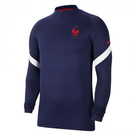 2020-2021 France Nike Training Drill Top (Navy)