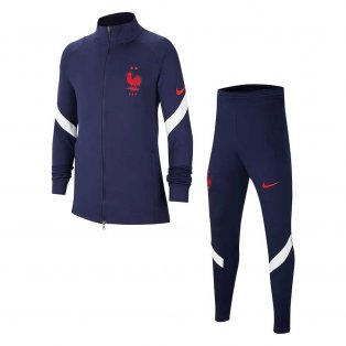 2020-2021 France Nike Dry Strike Tracksuit (Navy) - Kids