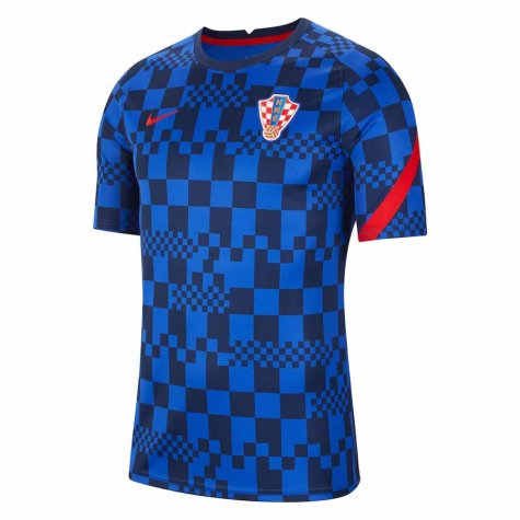 2020-2021 Croatia Pre-Match Training Shirt (Blue) - Kids
