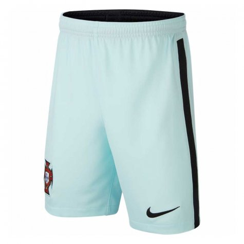 2020-2021 Portugal Nike Away Shorts (Teal Tint) - Kids