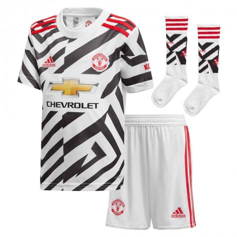 2020-2021 Man Utd Adidas Third Little Boys Mini Kit
