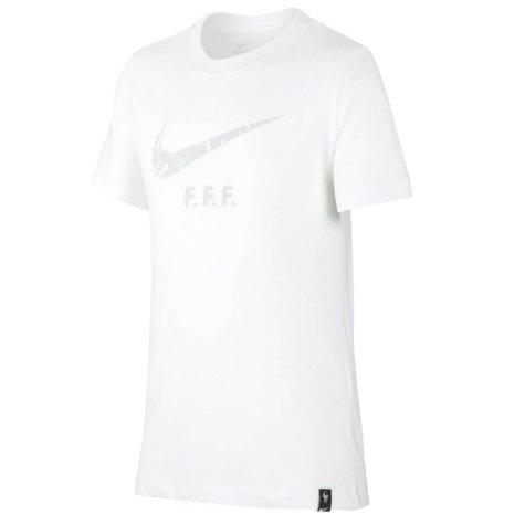 2020-2021 France Nike Evergreen Crest Tee (White)