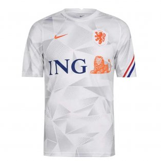 2020-2021 Holland Nike Pre-Match Training Shirt (White)