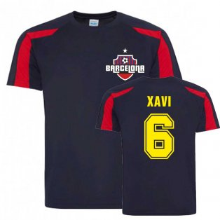Xavi Barcelona Sports Training Jersey (Navy)