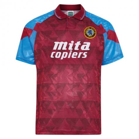 Score Draw Aston Villa 1990 Retro Football Shirt